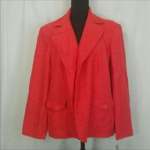 TALBOTS Orange Blazer NWT Size 22W